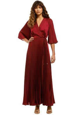 Ginger-and-Smart-Tempera-Wrap-Gown-Burgundy-Front