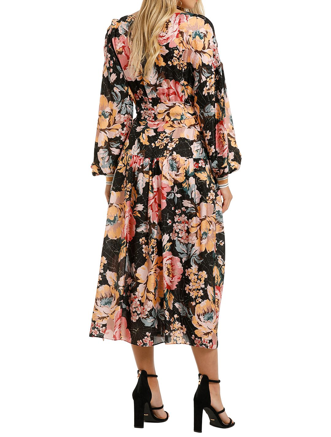 Ginger-And-Smart-The-Floral-Charts-Wrap-Dress-Back