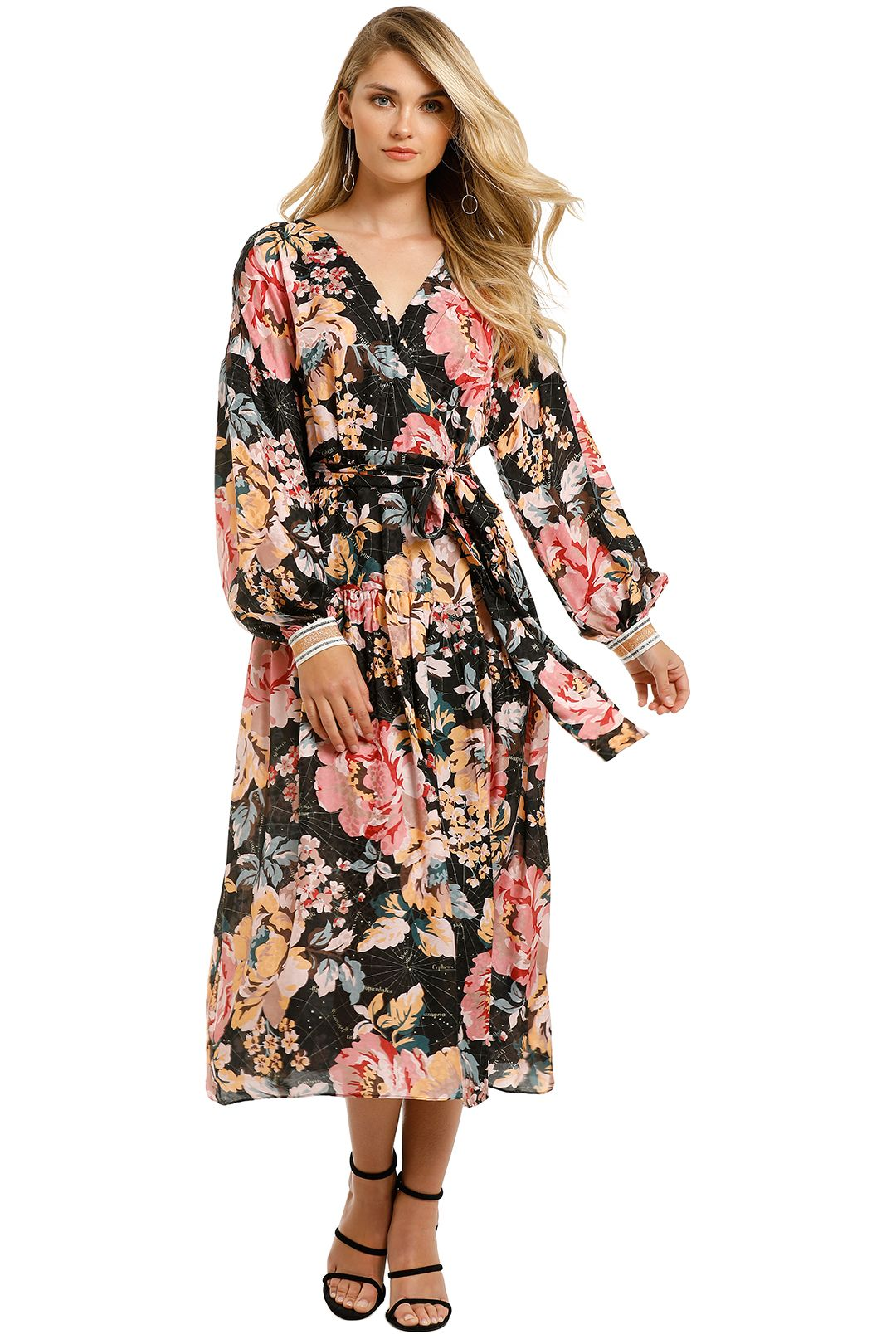 Ginger-And-Smart-The-Floral-Charts-Wrap-Dress-Front