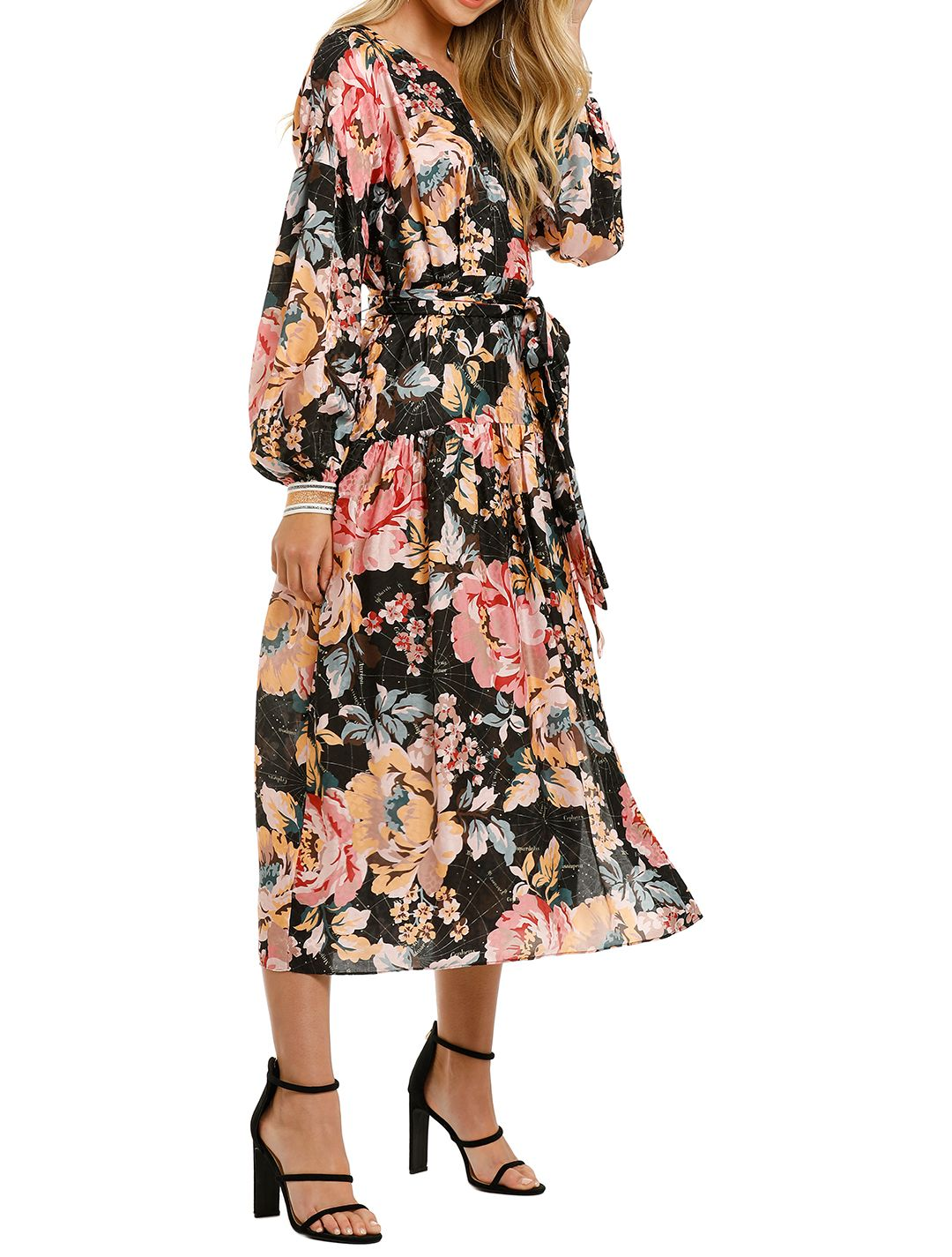 Ginger-And-Smart-The-Floral-Charts-Wrap-Dress-Side
