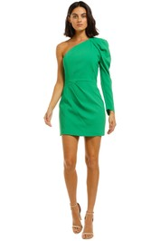 Ginger-and-Smart-Vortex-Mini-Dress-Neon-Green-Front