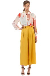 Ginger and Smart - Converge Blouse - Pink Print - Front