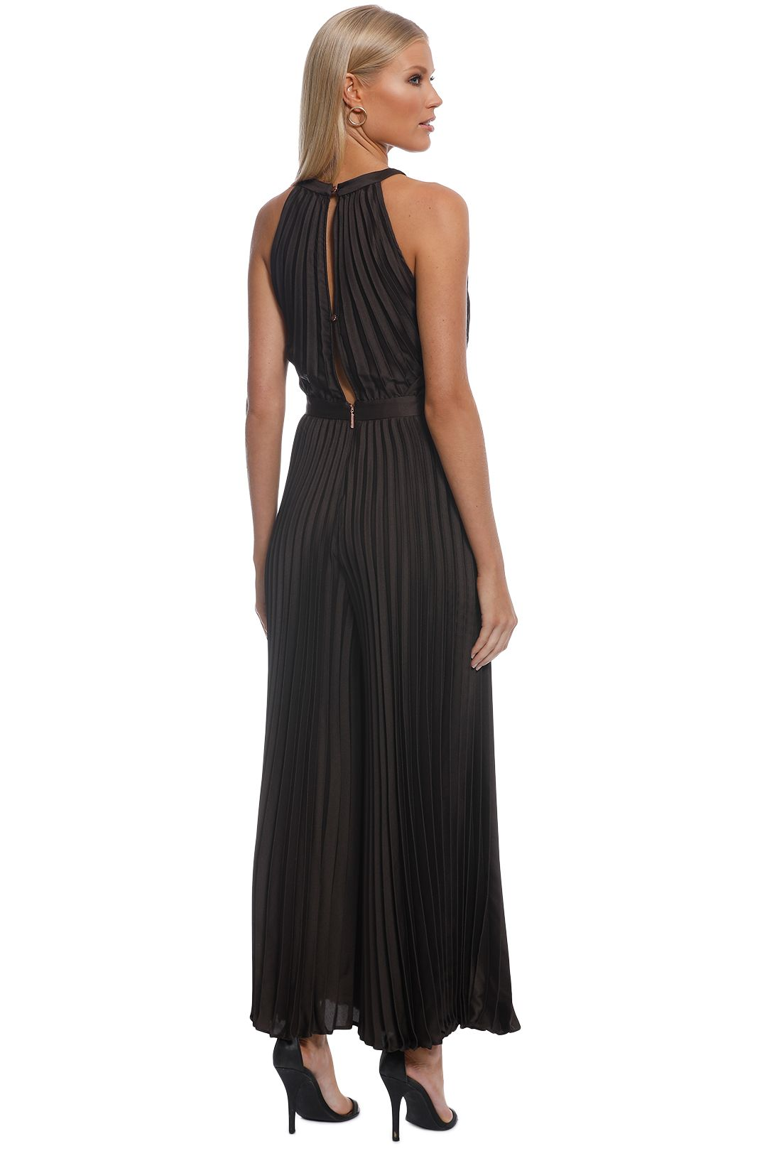 Ginger and Smart - Depth Pleat Jumpsuit - Black - Back