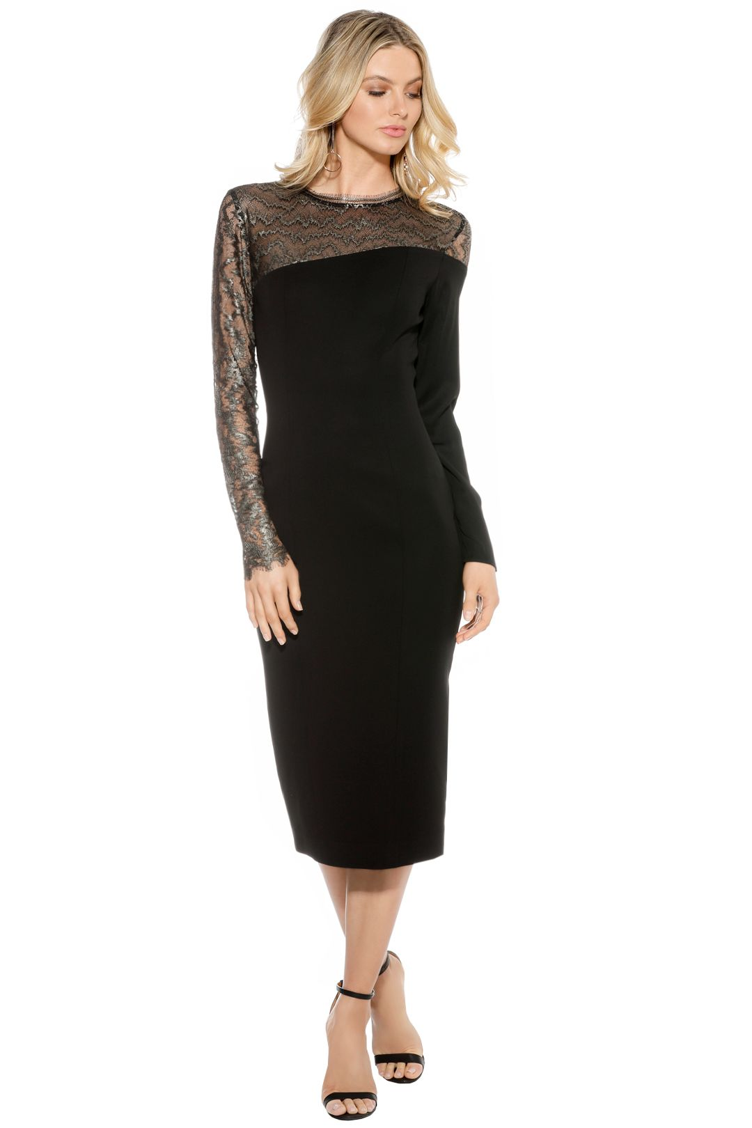 Ginger & Smart - Lace Sleeve Dress - Front