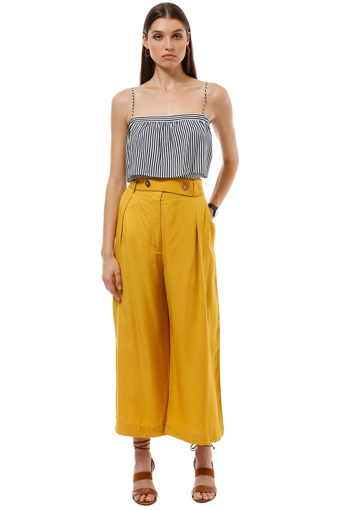 Ginger and Smart - Morph Pant - Mustard Yellow - Front