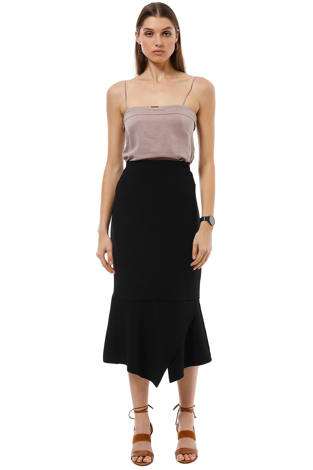 Ginger and Smart - Script Skirt - Black - Front