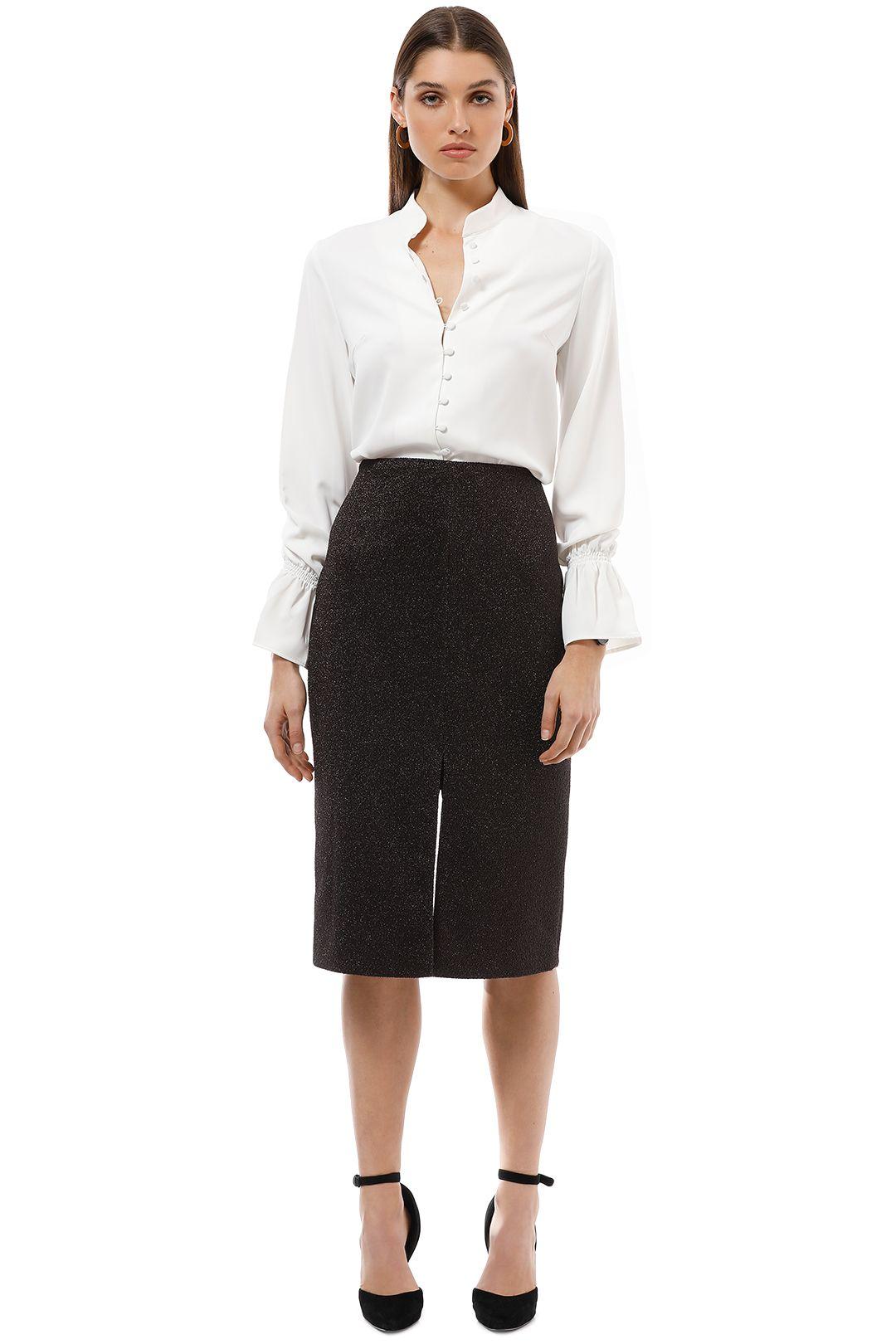 Ginger and Smart - Spectre Skirt - Deep Plum - Front