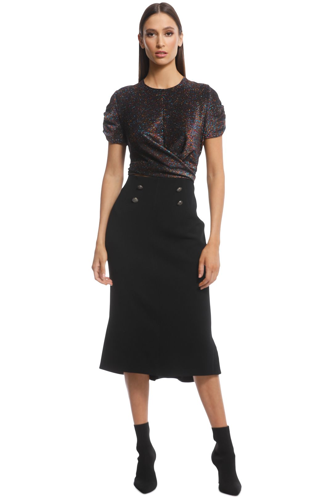 Ginger and Smart - Suffuse Skirt - Black - Front