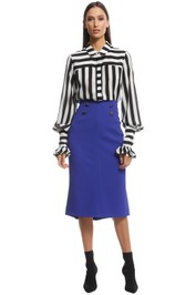 Ginger and Smart - Suffuse Skirt - Cobalt - Front