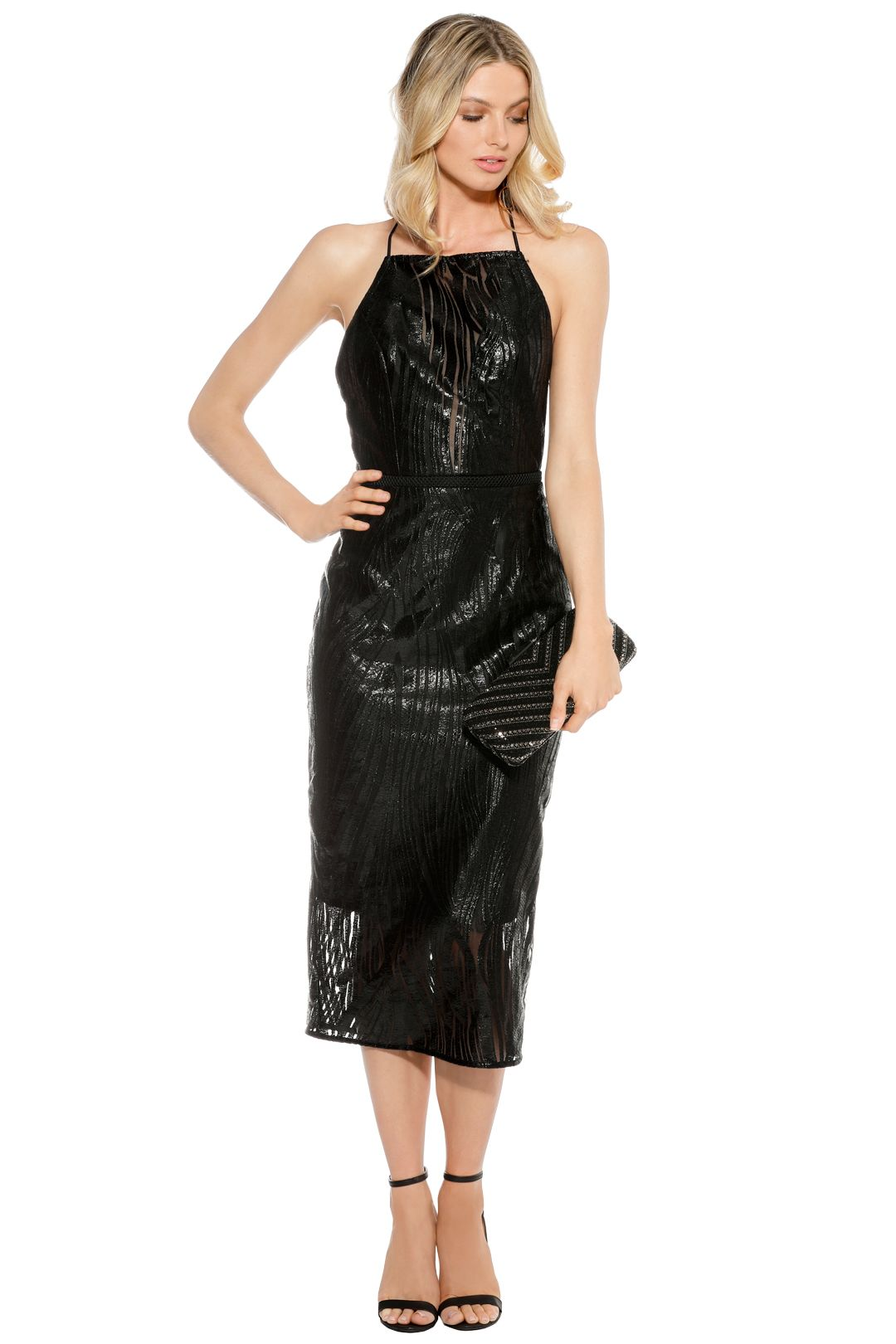 Manning Cartell - Zigzag Sheer Lace - Black - Front
