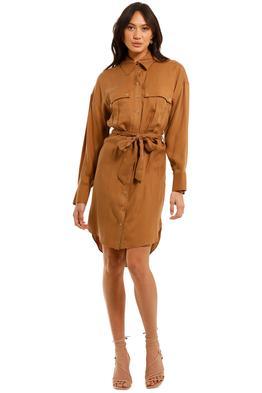 Ginger and Smart Cruiser Shirt Dress Caramel