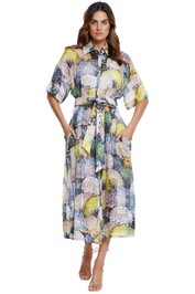 Ginger and Smart Joy Shirt Dress Silk Linen multi