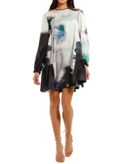 Ginger and Smart Vapour Dress Tie Dye Print