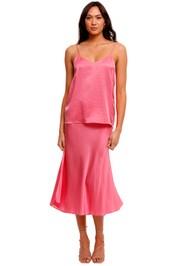 Ginia Eve Pink Silk Cami