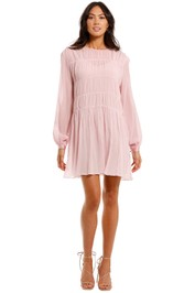 Ginia Finley Gathered Mini Dress