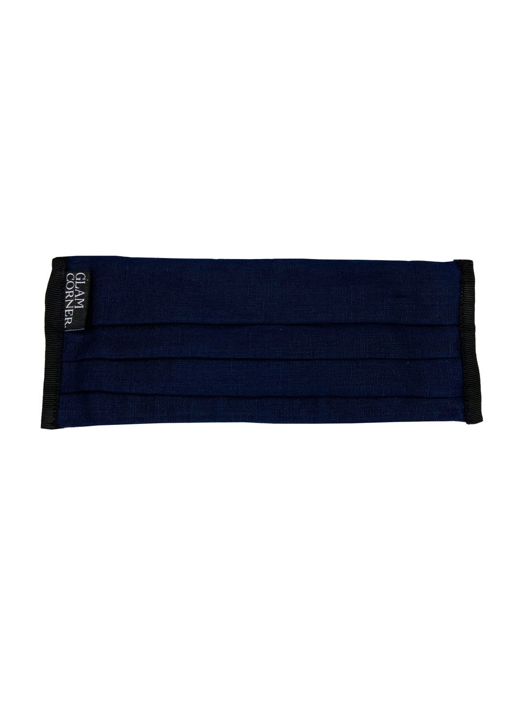 GlamCorner-Fabric-Face-Mask-Navy-Blue-Front-new