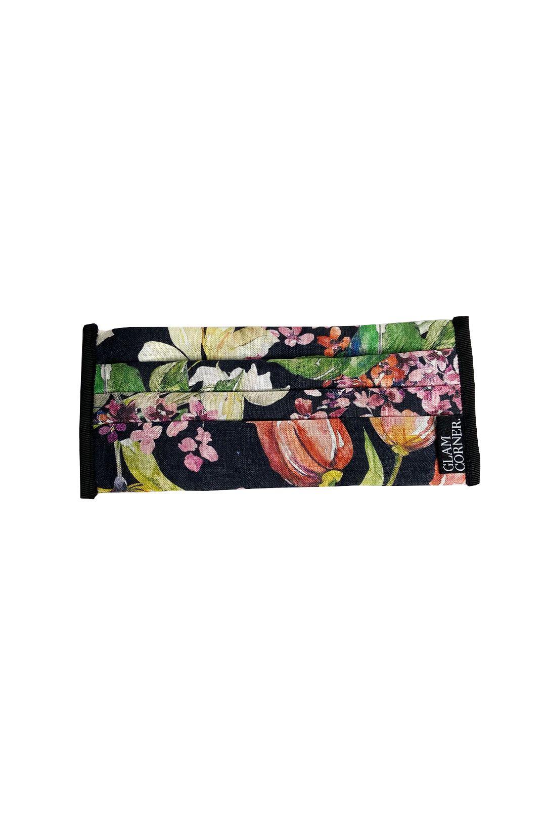 GlamCorner-Three-Layered-Fabric-Face-Masks-Black-Floral-Product