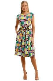 Gorman-Acid-Check-Wrap-Dress-Multi-Print-Front