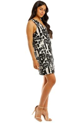Gorman-Night-Light-Shift-Dress-Black-White-Print-Side
