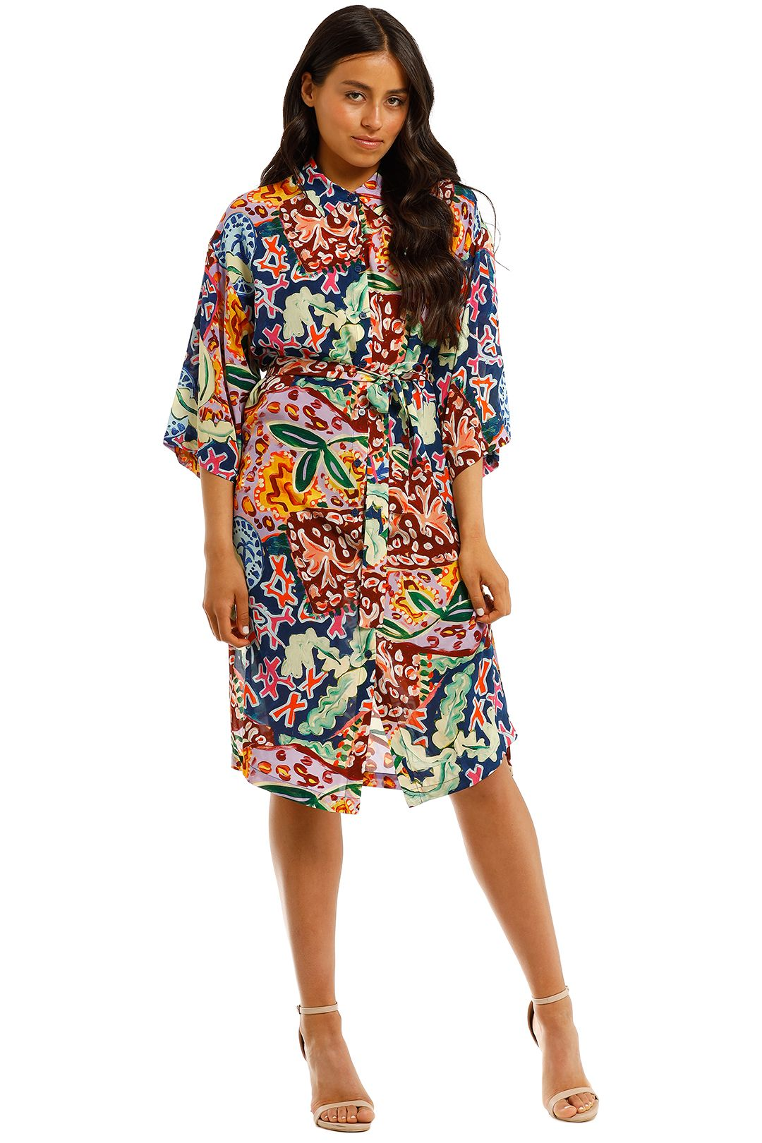Gorman-Paradiso-Dress-Multi-Print-Front
