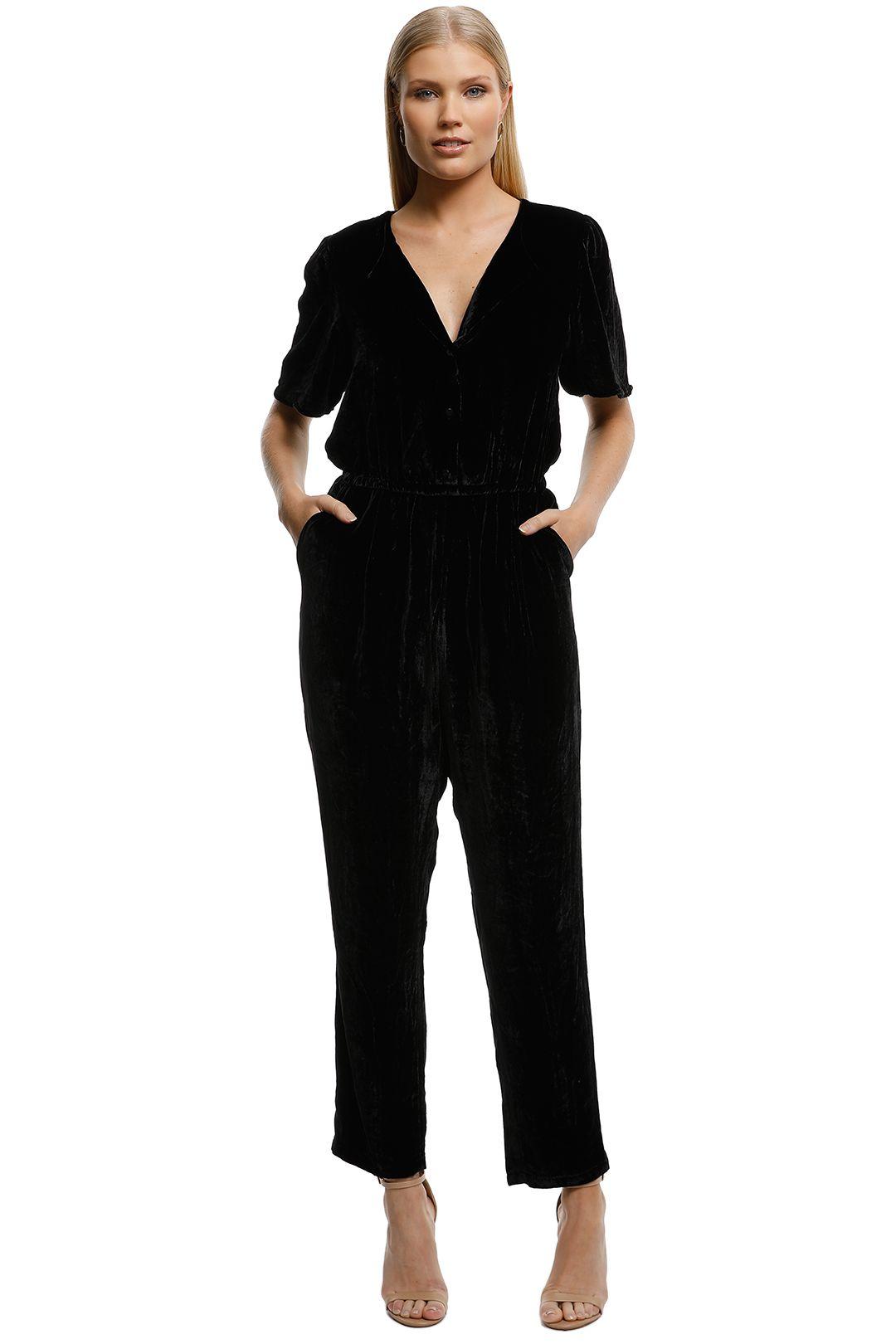 Gorman-Velvet-Pantsuit-Black-Front