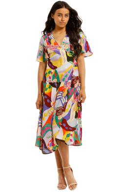 Gorman-Wild-Orchid-Wrap-Dress-Multi-Print-Front