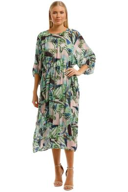 Gorman-Winter-Garden-Long-Dress-Multi-Print-Front