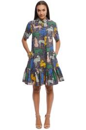 Gorman - Cheetah Print Dress - Multi - Front