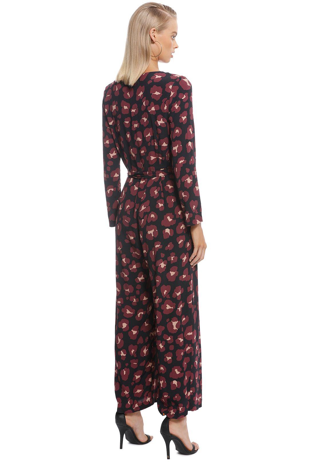 Gorman - Leopard Print Pantsuit - Print - Back