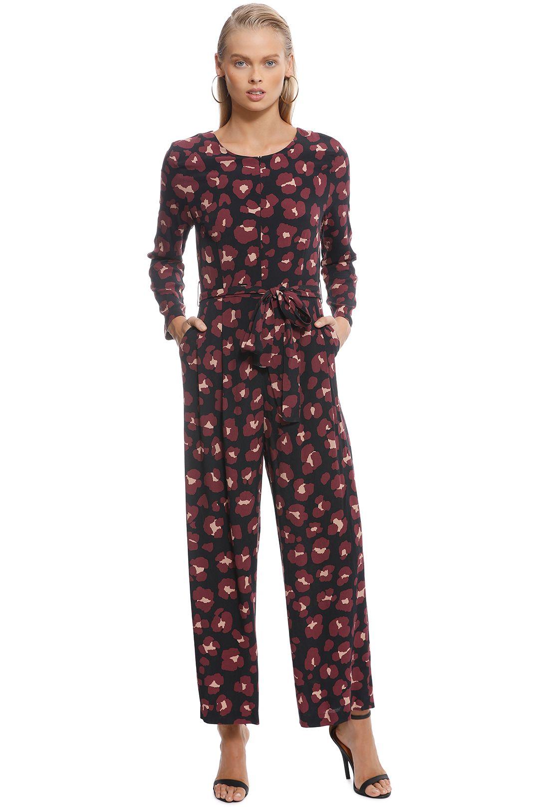 Gorman - Leopard Print Pantsuit - Print - Front