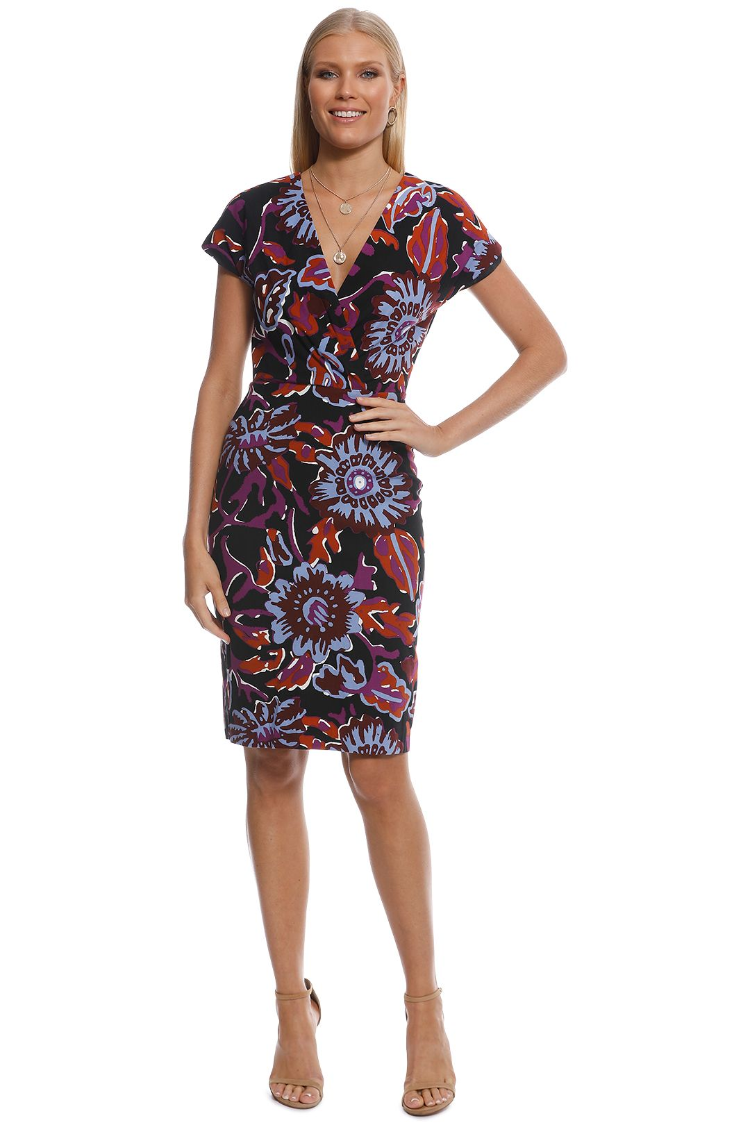 Gorman - Monks Garden Pencil Dress - Print - Front