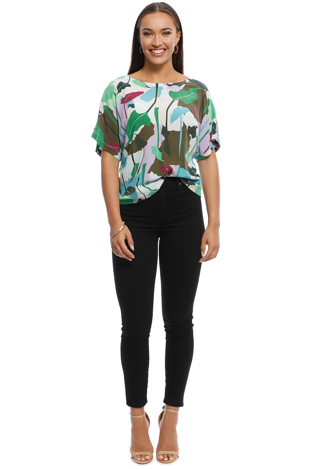 Gorman - Philodendron Silk Top - Multi - front