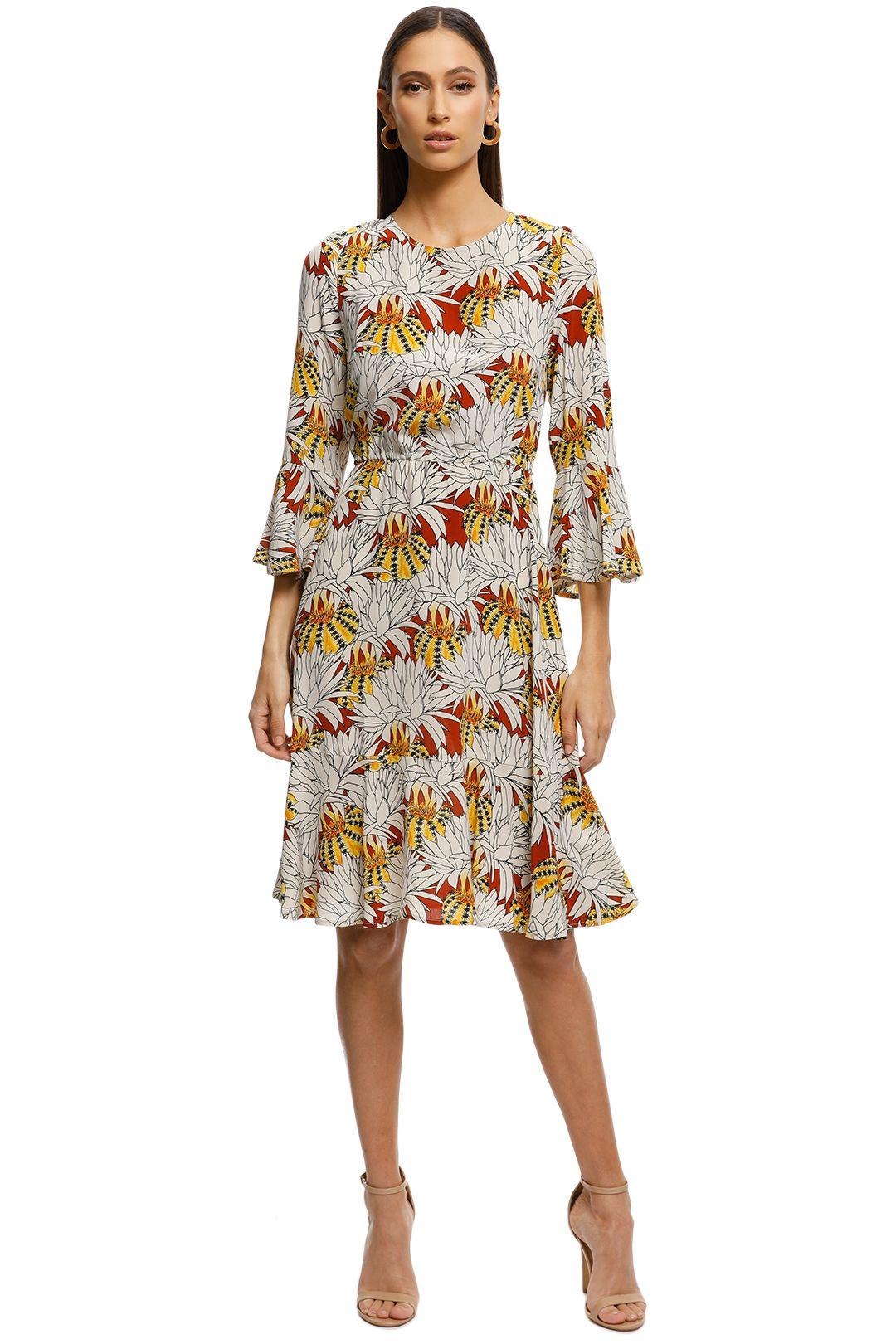 Gorman - Pumpkin Flower Silk Dress - Print - Front