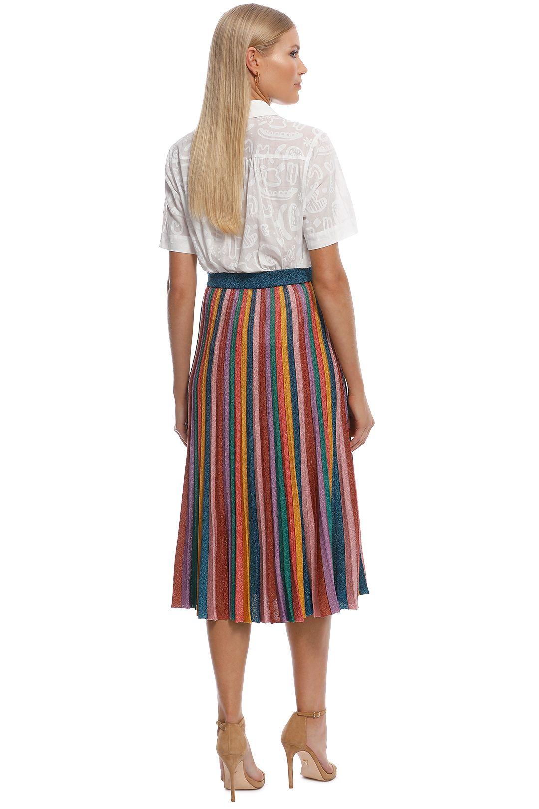 Gorman - Rainbow Knit Skirt - Multi - Back