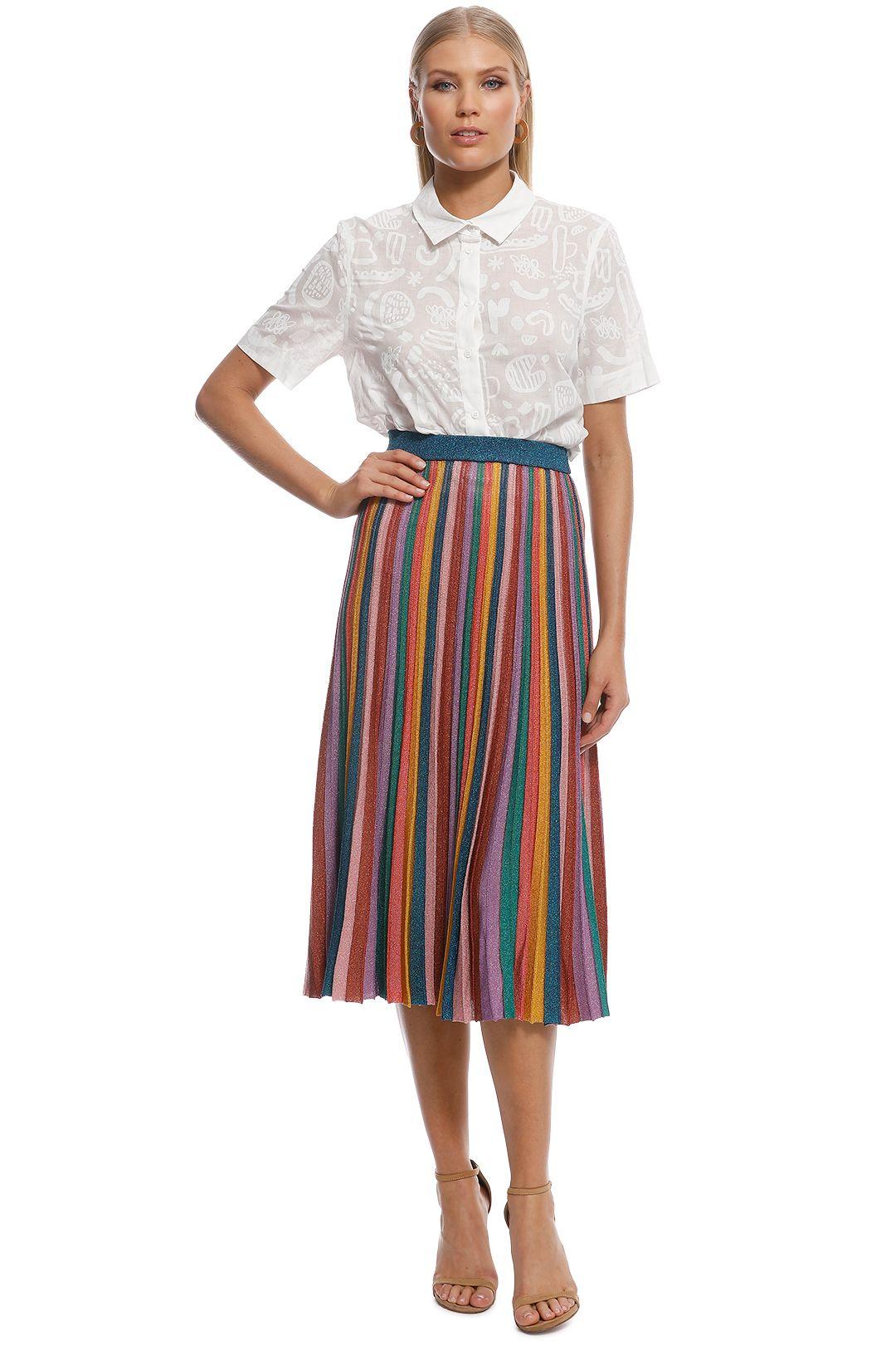 Gorman - Rainbow Knit Skirt - Multi - Front