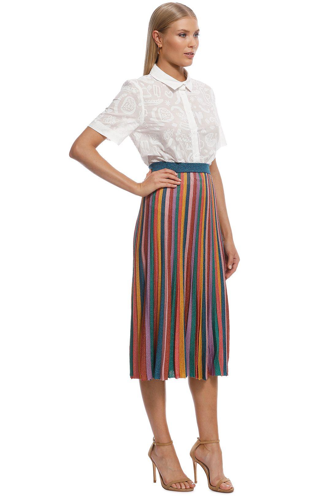 Gorman - Rainbow Knit Skirt - Multi - Side