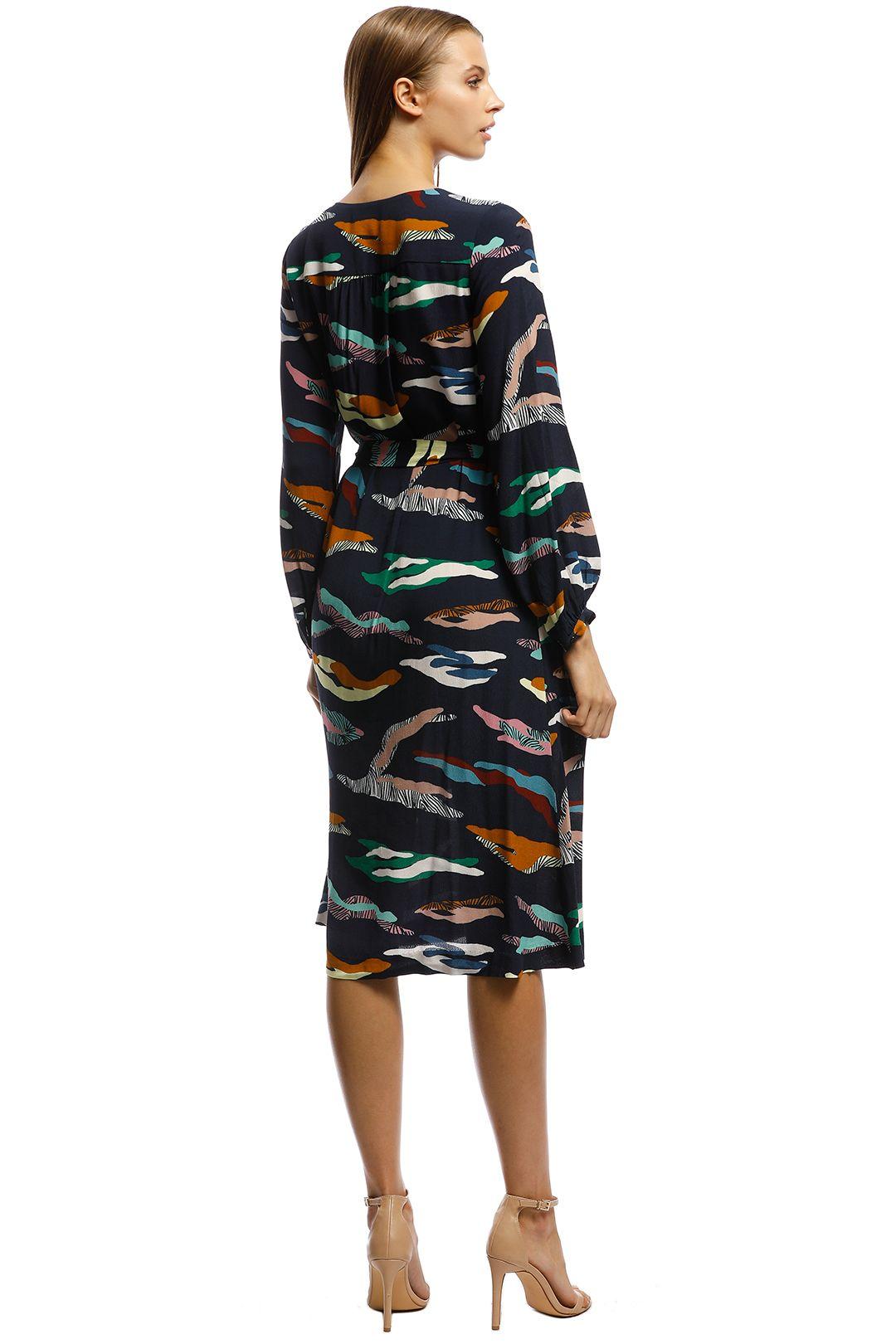 Gorman - Tora Dress - Blue print - Back