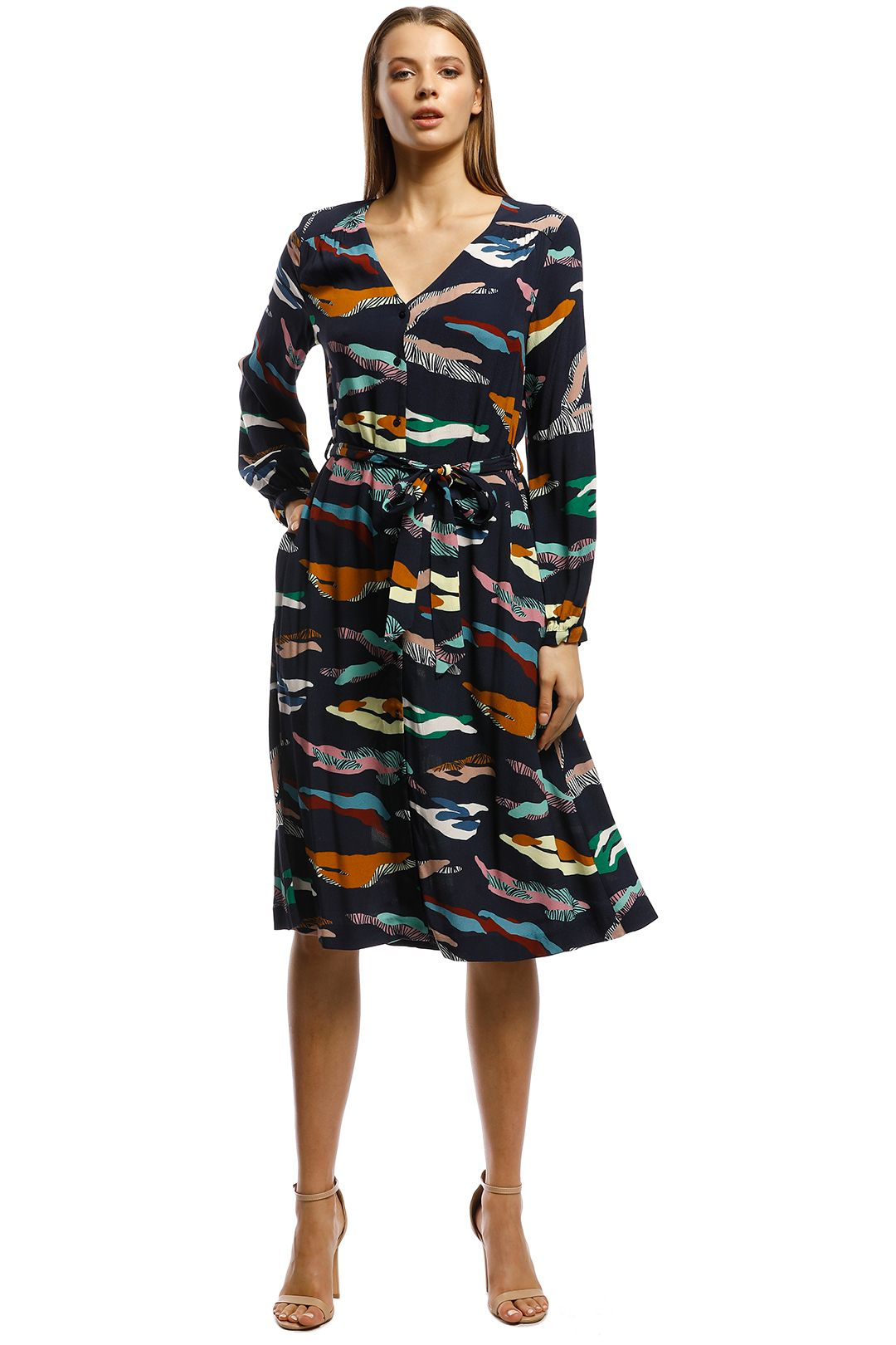 Gorman - Tora Dress - Blue print - Front