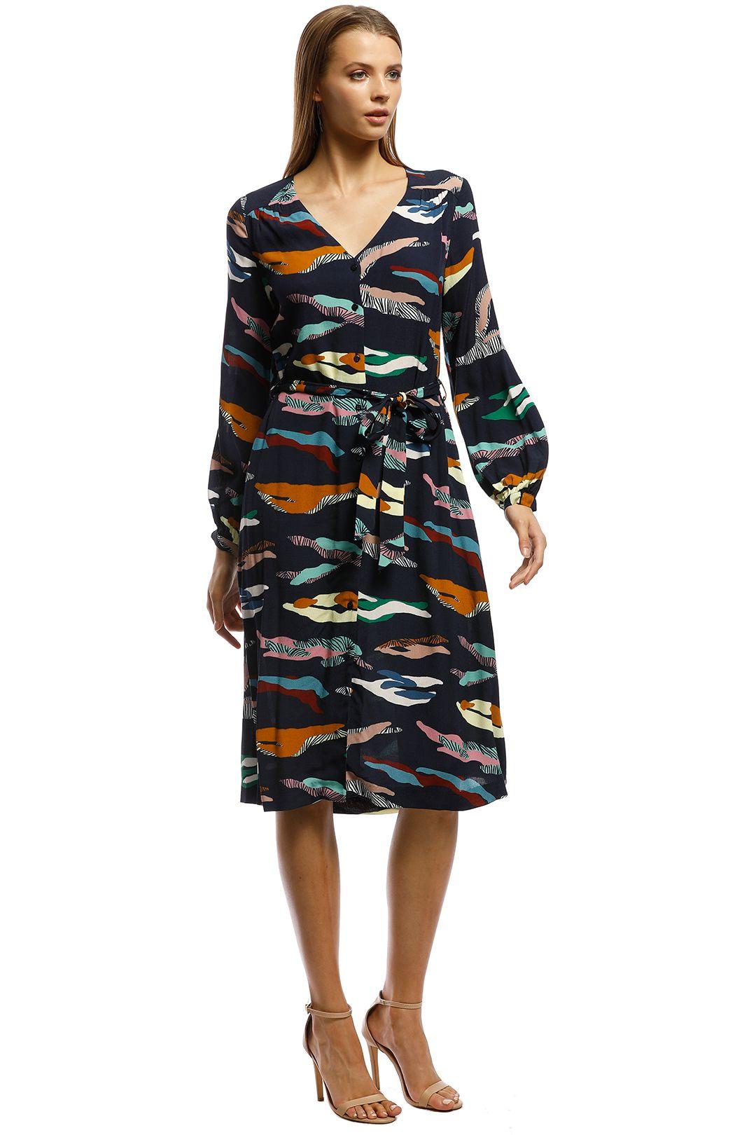 Gorman - Tora Dress - Blue print - Side
