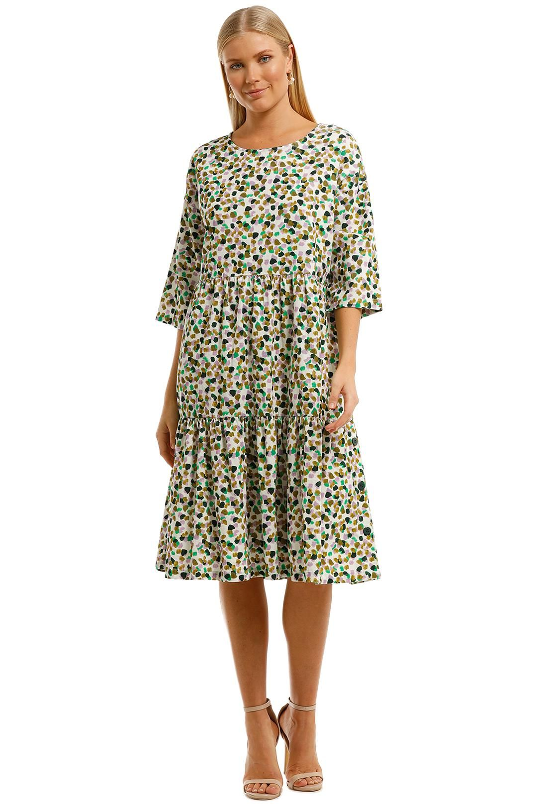 Gorman Confetti Smock Dress Three Quarter Sleeve