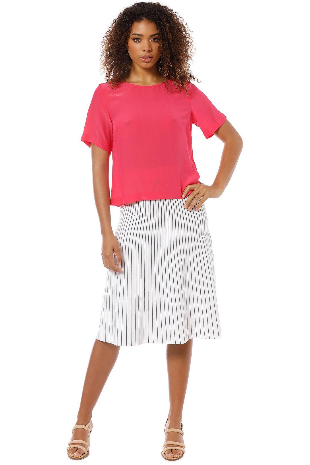 Gorman  Fuschia Pop Top - Pink - Front