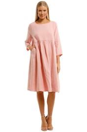 Gorman Growers Dress Pink Midi Length