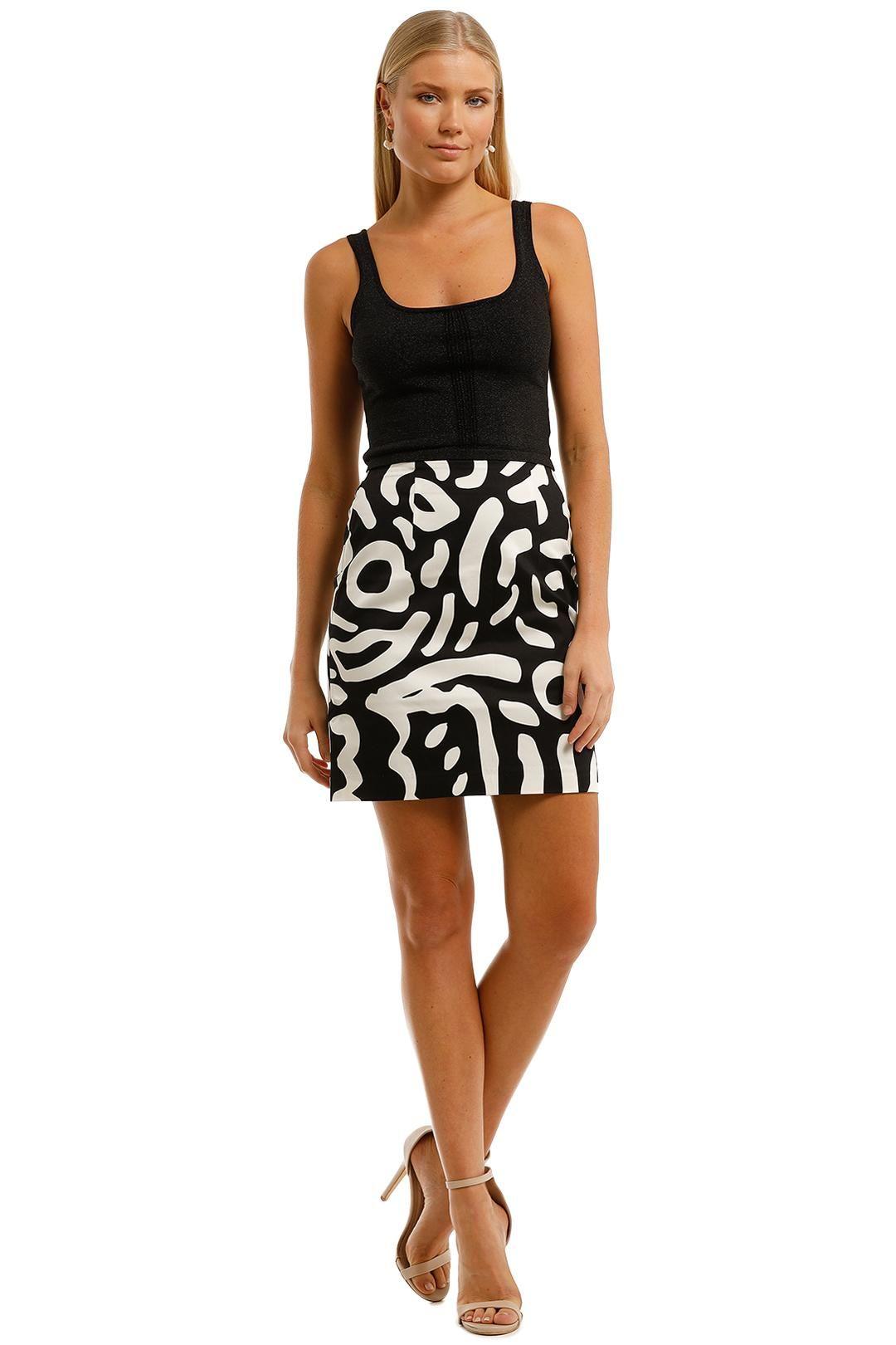 Gorman Ripple Effect Mini Skirt High Waisted