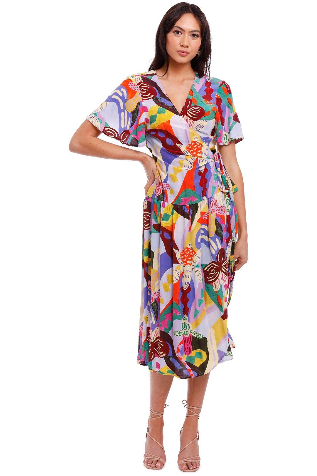 Gorman Wild Orchid Wrap Dress