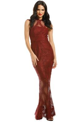 Grace-and-Hart-Queen-Bee-Gown-Wine-Front