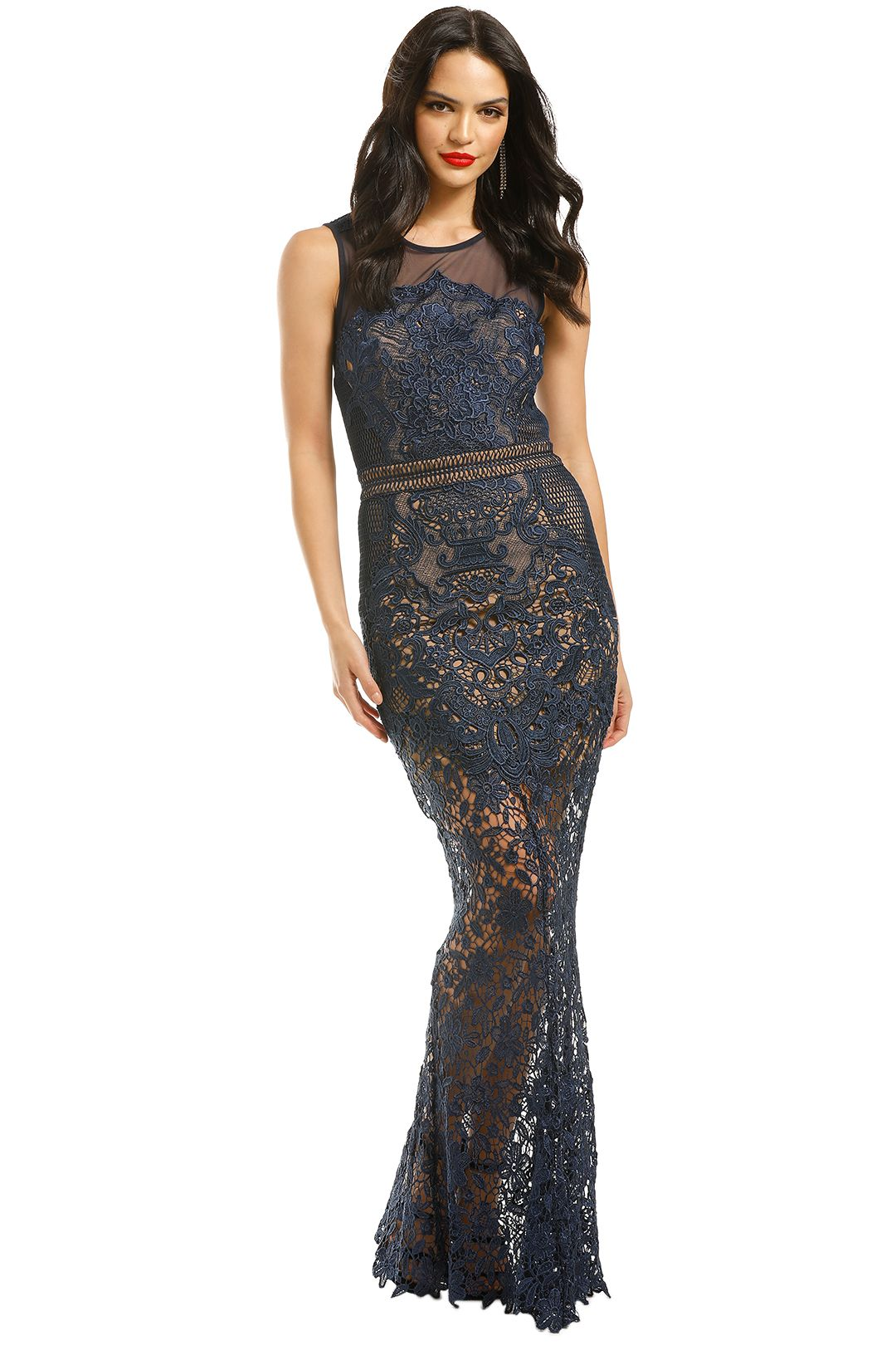 Grace-and-Hart-Renaissance-Gown-Navy-Front