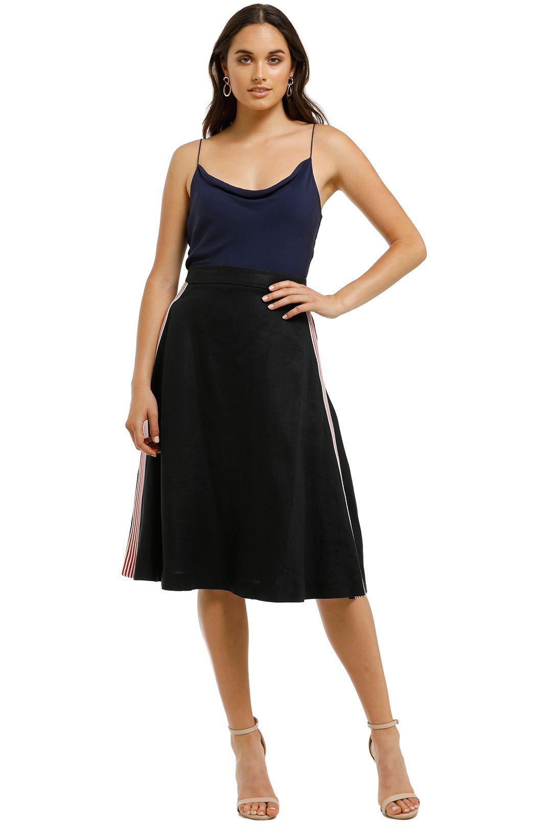 Grace-Willow-Arabella-Skirt-Black-Front