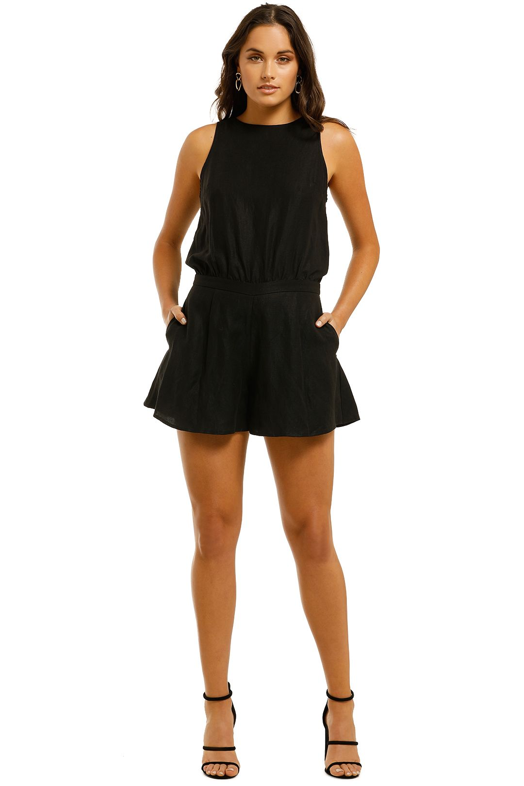 Grace-Willow-Gina-Playsuit-Black-Front