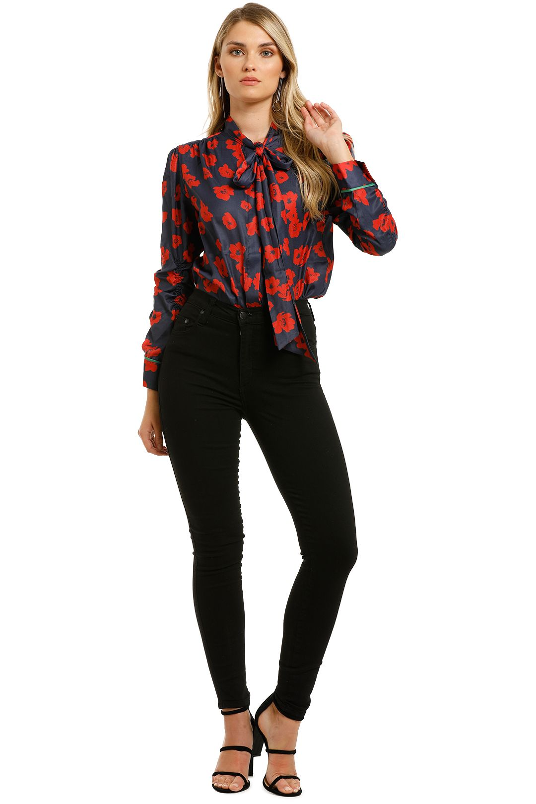 Grace-Willow-River-Blouse-Red-Poppy-Print-Front