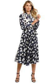 Grace-Willow-River-Dress-Blue-Poppy-Print-Front